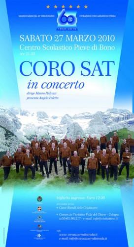 Locandina Concerto Coro della SAT