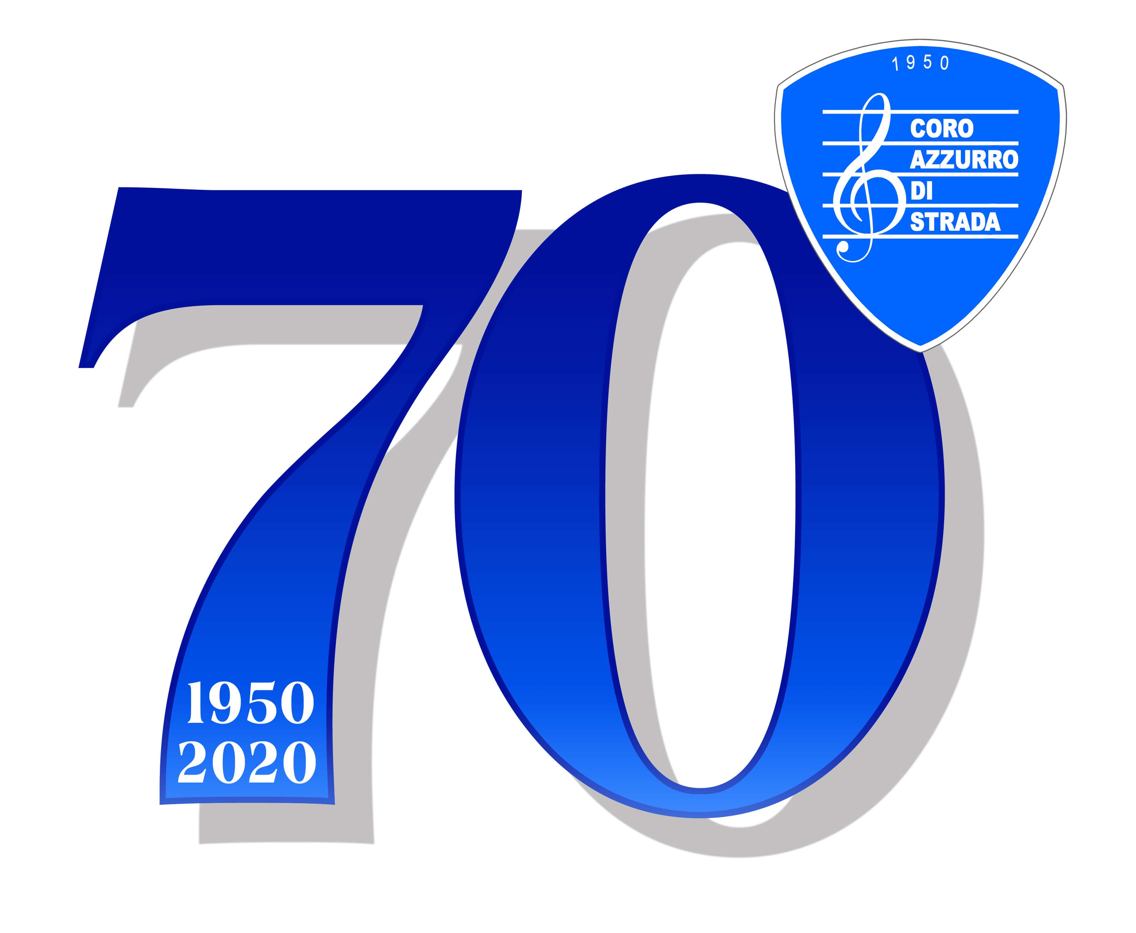 Logo 70° Coro Azzurro di Strada